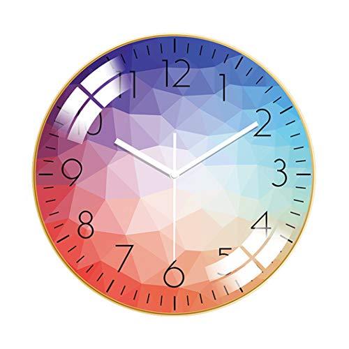 KANGLE-DERI Personality Art Simple Clock Wall Clock Living Room Home Fashion Clock Light Luxury Modern Style Silent Wall Watch, Bedroom Decoration Quartz Clock,F