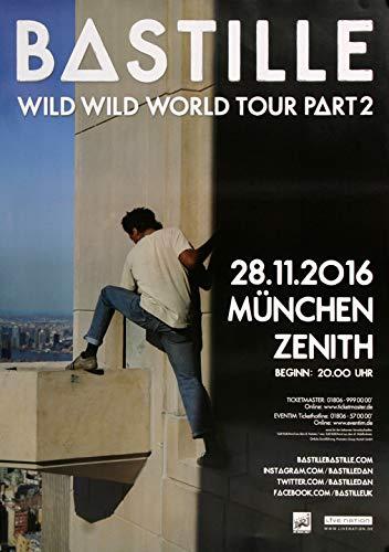 Bastille - Wild World, München 2016 » Konzertplakat/Premium Poster | Live Konzert Veranstaltung | DIN A1 «