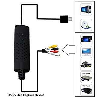 REDGO Video Audio VHS VCR USB Video Capture Card to DVD Converter Capture Card Adapter للبيع