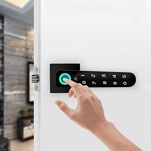 Cerradura de puerta con contraseña inteligente Cerradura de puerta Cerradura de puerta de seguridad Cerradura de puerta con huella digital Resistente a la intemperie Instalación simple para