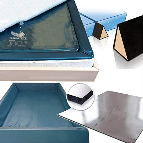 Traumreiter Wasserbett Erneuerungs-Set 180x200 bestehend aus folgenden 5 Teilen Wasserbettmatratze Sicherheitswanne Trennkeil Stromsparmatte AVOI