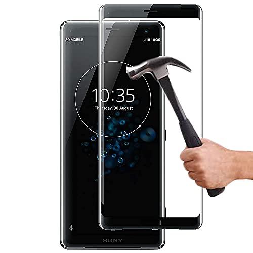 Lapinette Vetro Temperato Integrale Compatibile con Sony Xperia XZ3 - Pellicola Vetro Temperato Xperia XZ3 Integrale - 9H Force Glass - Vetro Temperato Copertura Totale