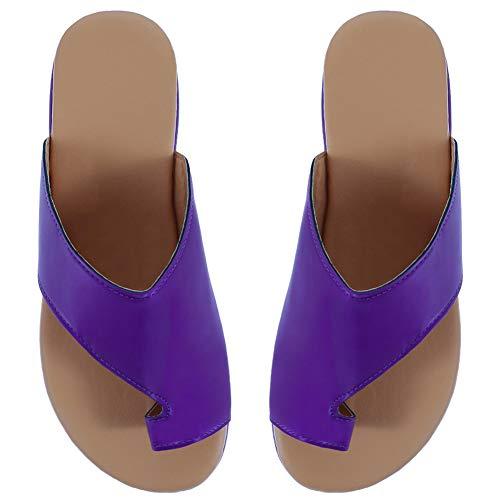 Fat Bear Vrouwen Comfy Platform Sandale Schoenen, Zomer Beach Schoenen Dames Casual Schoenen - 2019 Platte Sandalen Reisschoenen PU Leer 40EU PP