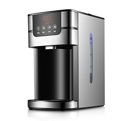 Dispensador de Agua para el hogar Caldera y Calentador de Agua híbrido, Botella de Agua Caliente eléctrica instantánea de 4 litros, Acero Inoxidable Negro Oscuro