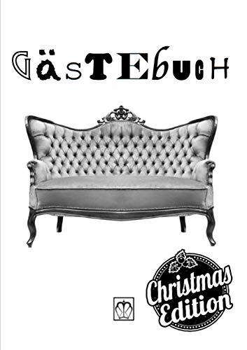 Gästebuch: Alle meine Weihnachtsgäste in einem Buch (schwarz-weiß Version)
