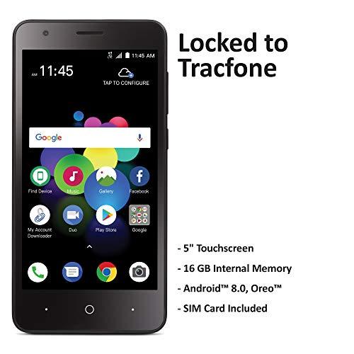 Tracfone – Smartphone ZTE Blade T2 Lite 4G LTE prepago (16 GB, Tarjeta SIM incluida), Color Negro