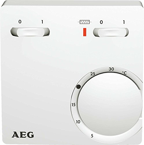 AEG thermostaat RT 602 SN SZ, 2-punt, opbouw, temperatuurinstelling van 5-30 °C, zuiver wit, 223299