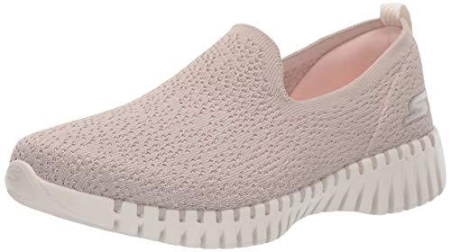 Skechers Damen Go Walk Smart-Glory Sneaker, Beige (Taupe Textile/Trim Tpe), 39 EU