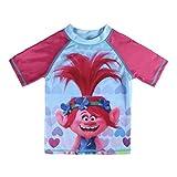 TROLLS S0712860 Camiseta, Azul, Rosa, 4 años Unisex niños