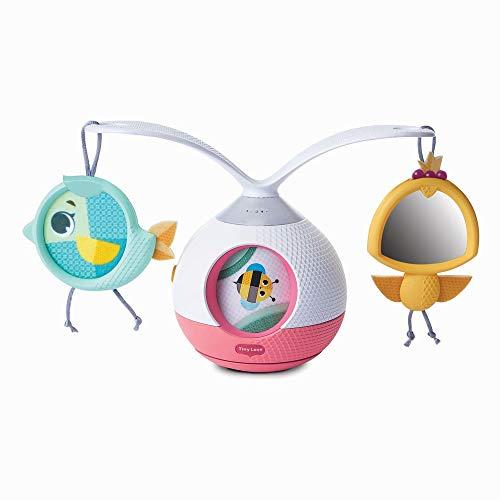 Tiny Love Tiny Princess Tales Tummy Time - Movil musical bebe y Juego estimulacion sensorial por extiender tiempo boca abajo, narrador rotativo 360°, musica y sonidos activados por el bebe
