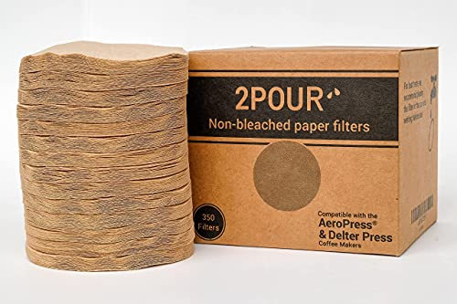 Perky Brew 350 x Paper Filters For Use With The Aeropress Coffee Maker - Non Bleached Natural Sold in Packs of 50