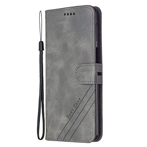 Hülle für Samsung Galaxy S20 FE/Lite 5G Handyhülle Schutzhülle Leder PU Wallet Bumper Lederhülle Ledertasche Klapphülle Klappbar Magnetisch für Galaxy S20 FE - ZIHX020093 Grau