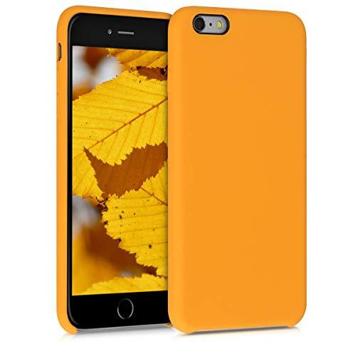 kwmobile Custodia Compatibile con Apple iPhone 6 Plus   6S Plus - Cover in Silicone TPU - Back Case per Smartphone - Protezione Gommata Giallo Zafferano