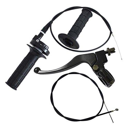Gator parts Brake Clutch Lever Bike Brake Cable Throttle Grip w/Cable for Baja Mini Bike 196cc 5.5hp 6.5hp