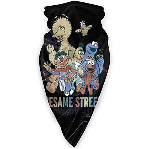 N / A Sesame Street Colorful Group Foulard Coupe-Vent Visage Foulard Cache-Cou Bandana Décoration Faciale Unique Protection du Visage pour Homme Femme