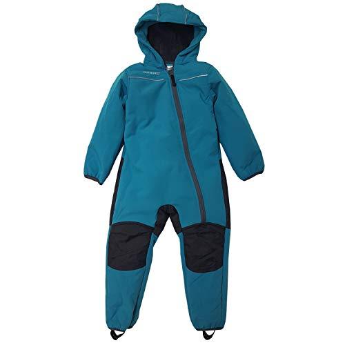 Outburst - Jungen Mädchen Baby Softshell Overall gefüttert wasserdicht 10.000 mm Wassersäule Winddicht atmungsaktiv Schneeanzug, türkis - 3712206, Größe 74