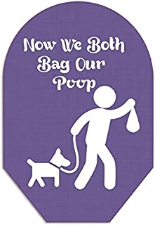 Now We Both Bag Our Poop Pouch Cover Closed End