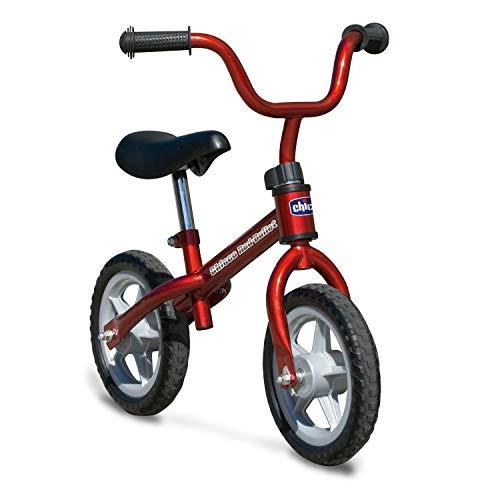 Chicco Bicicleta sin Pedales First Bike para Niños de 2 a 5 Años hasta 25 Kg, Bici para Aprender a Mantener el Equilibrio con Manillar y Sillín Ajustables, Rojo - Juguetes para Niños de 2 a 5 Año