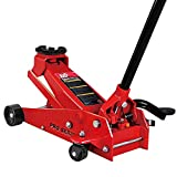 BIG RED T83012 Torin Pro Series Hydraulic Floor Jack with Single Quick Lift Piston Pump and Foot Pedal, 3.5 Ton (7,000 lb) Capacity, Red