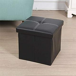 G-rf Panier Rangement Boîte de rangement Creative Dortoir de stockage Tabouret (Noir) (Color : Black)
