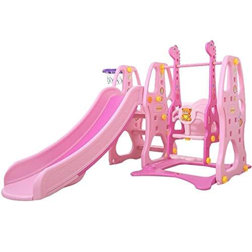PNFP dia's en schommels met mand beugel gecombineerd type indoor dia's en speelstructuren voor kinderen gebruikt voor babykamer
