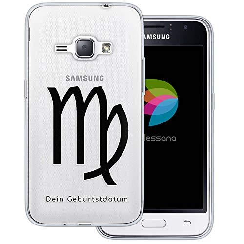 dessana sterrenbeeld met datum transparante silicone TPU beschermhoes 0,7 mm dunne mobiele telefoon soft case cover tas voor Samsung Galaxy A J, Samsung Galaxy J1 (2016), Jonge verjaardag