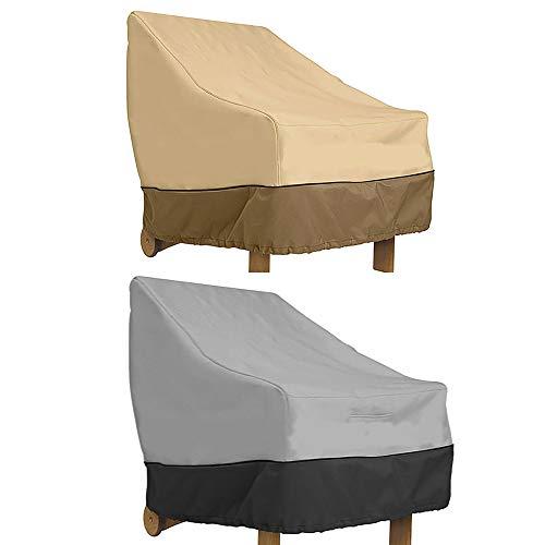 73FACAI 2PACK Muebles Silla Sofá Cubierta Impermeable a Prueba de Polvo Sombrilla de Jardín Patio al Aire Libre Proteja Sus Muebles 600D Tela Oxford,Mix