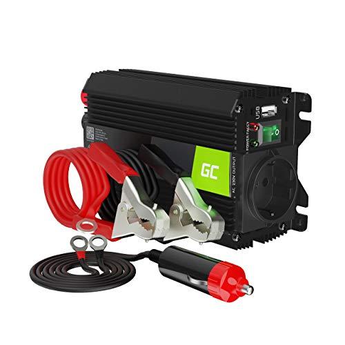 Green Cell Pro 300W/600W 12V a 220V/230V Onda sinusoidal modificada Inversor de Corriente DC AC Power Inverter Transformador de Voltaje para Coche Camion con Puerto USB