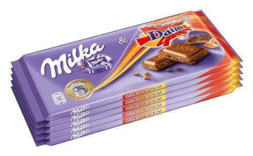 Milka und Daim, Tafelschokolade, 100g, 1er Pack (1 x 500 g)