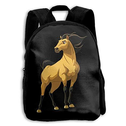 ETSBL BAG Spirit Stallion Of The Cimarron Childrens' Canvas School Backpacks Mini Rucksack School Bag -