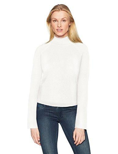 Minnie Rose - Jersey de cachemira para mujer, 100% acanalado, para mujer - Blanco - Large
