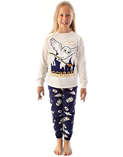 HARRY POTTER Pijamas Girls Hedwig Manga Larga Camiseta y Pantalones de vellones 12-13 años