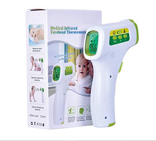 Digitales Infrarot Stirnthermometer Berührungsloses Digitales Thermometer mit Fieberalarm-Funktion, 3 in 1 Digitales Medizinisches Infrarot Thermometer für Babys, Erwachsene und Objekte