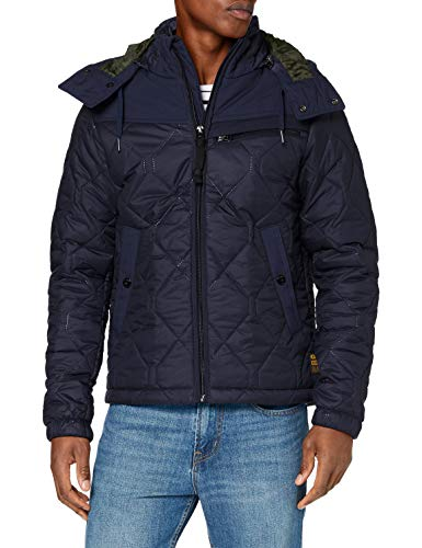 G-STAR RAW Mens Attacc heatseal Quilted HDD JKT Jacket, Sartho Blue C470-6067, Medium