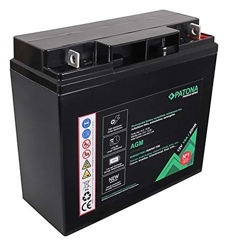 PATONA Premium AGM 12V 18Ah batería de Plomo ácido VRLA Sin Mantenimiento 1800 ciclos