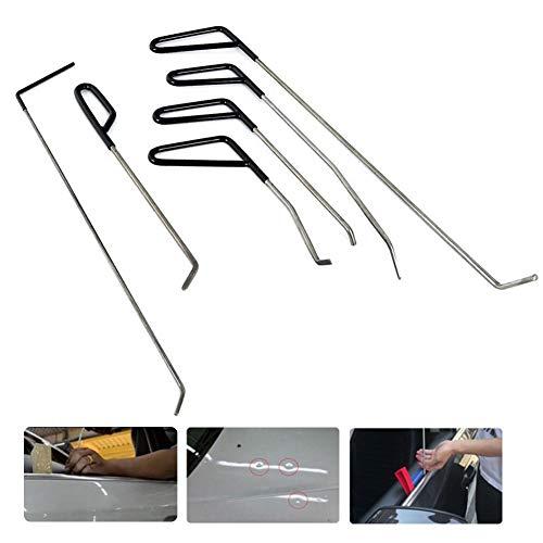 Reparación Abolladuras, Dent Removal Tools, Herramientas Paintless Body Repair Coche,PDR Rod, Kit Eliminación de Daños por Granizo en la Puerta,Set Herramienta de Eliminación de Varillas PDR-6 PCS