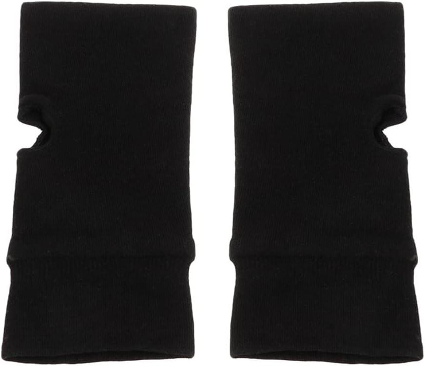 zhuodike Black Fashion Unisex Gloves Soft Warm Mitten Knitted Fingerless Solid Soft 1pair