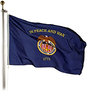Valley Forge Merchant Marine Flag 3x5 Foot Perma-Nyl