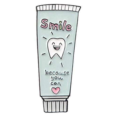BBLLBrosche Zahnbürste Zahnpasta Pin Lächeln Zähne Essen Pizza Burger Anstecknadel Zahnarzt Brosche Urlaub GeschenkZahnpasta