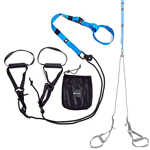 Sportastisch Schlingentrainer Set SPITZENSPORTLER ERPROBT¹ Move in Loops mit E-Book, Sling Trainer mit Umlenkrolle, SuspensionSling-Trainer mit bis zu 3 Jahren Garantie²