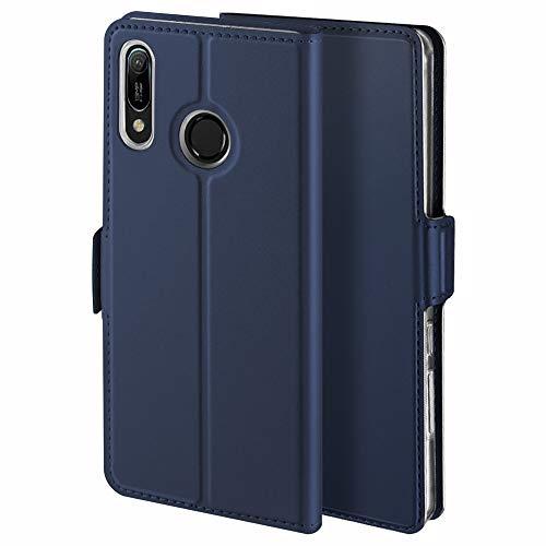YATWIN Handyhülle für Huawei Y6 2019/Honor 8A Hülle Premium Leder Flip Hülle Schutzhülle für Huawei Y6 2019 Handytasche, Schwarz