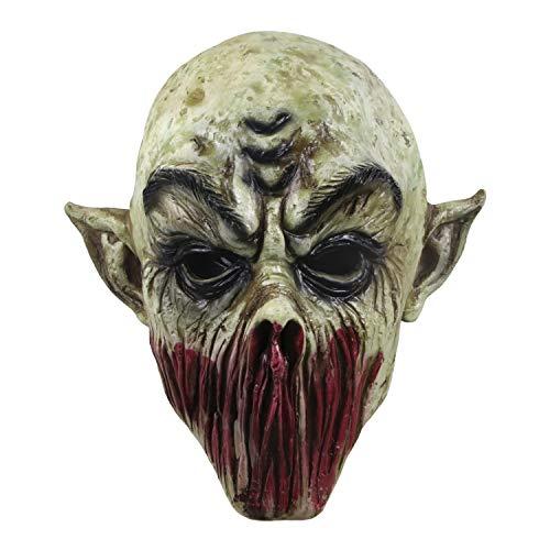 molezu Bloody Monster Mask, Horrific Alien Mask, Resident Evil Demon Mask for Halloween Props