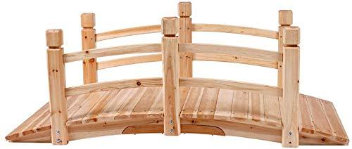 Gartenbrücke - Holz, 140x60x53cm, Gartendekoration - Teichbrücke, Teichbrücke, hölzerner Gehweg,wood