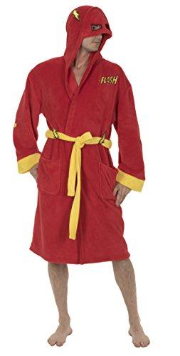 DC Comics Unisex-Erwachsene Die Flash-Kostüm-Hooded Fleece-Robe