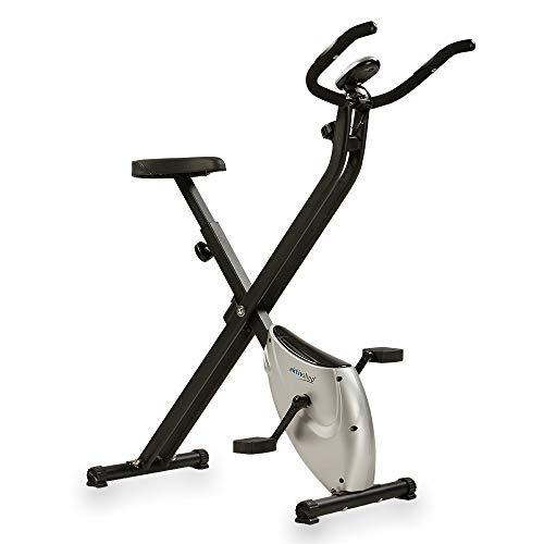 aktivshop Heimtrainer X-Bike Fitnessbike F-Bike Fitnessgerät faltbar Handpulsmessung 2,5 kg Schwungmasse mit Magnetbremssystem Pro