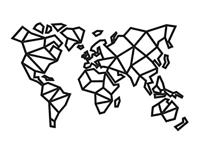 Mapa Mundi Geometrico Pared Grande mapamundi Madera Pared 2021 World Map Cuadro Mapa Mundi Decoracion con Fotos Mapa del Mundo Minimalista Wall Art para Salon habitacion Pasillo