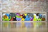Product Image of the BeginAgain Animal Parade A to Z Puzzle and Playset - Educational Wooden Alphabet...