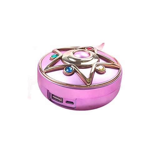 Tragbares Ladegerät Kosmetik-Spiegel-Licht Cosplay Anime Sailor Moon Compact-Energien-Bank Support Wireless-Gebühr Schminkspiegel