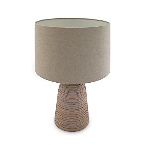 Relaxdays tafellamp bamboe Fibra, 52 x 35 x 35 cm, lila 10019059.51