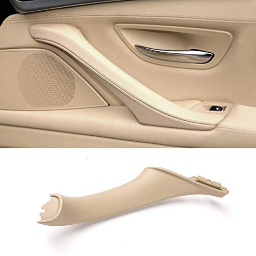 Jaronx Door Pull Handle for BMW 5 Series F10/F11,Right Side Passenger Door Pull Handles Inner Door Handle for BMW F10/F11 520 523 525 528 530 535 2010-2016 (Leather Outer Cover NOT Included)(Beige)